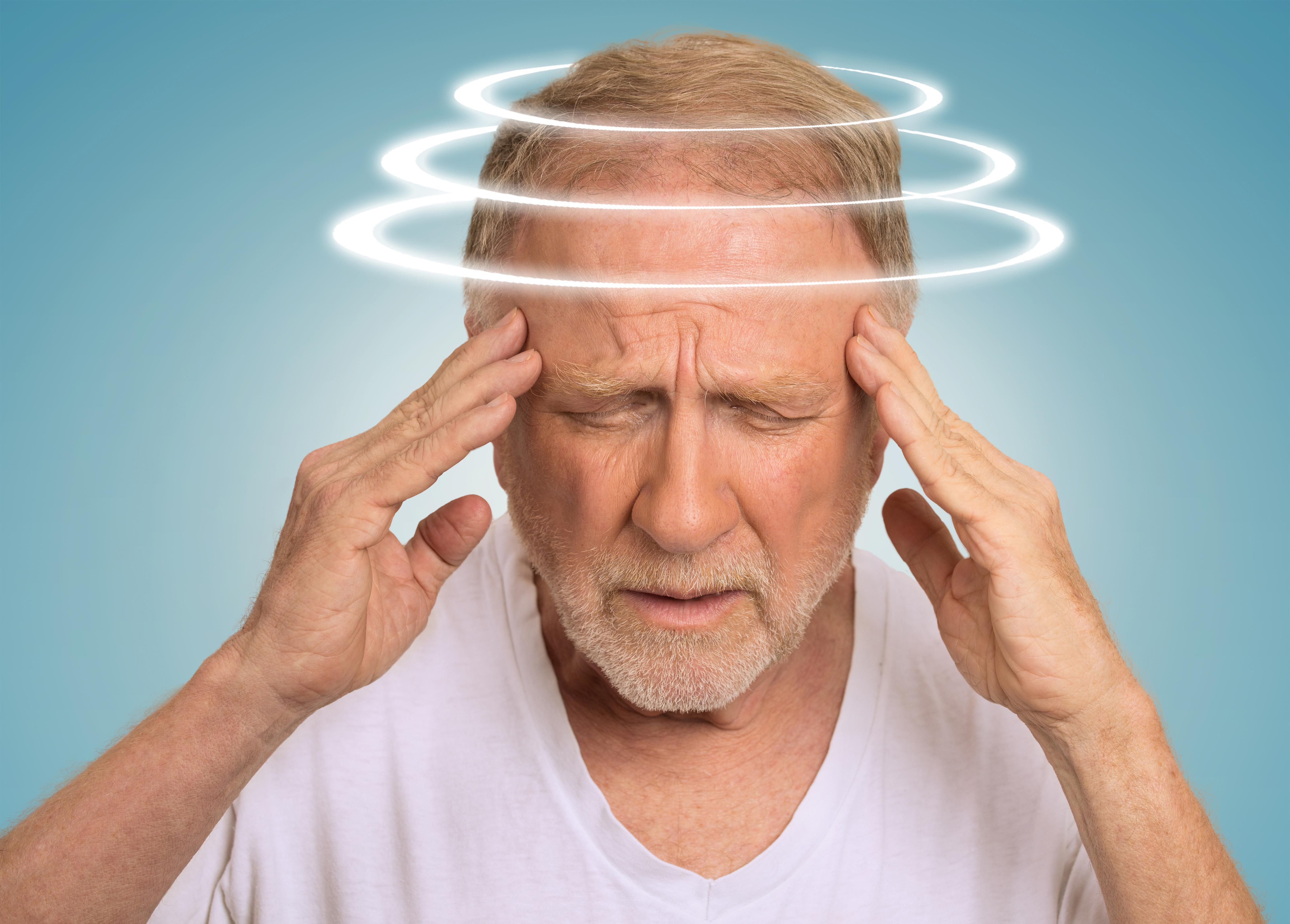 man is dizzy